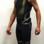 Black Adidas Techfit Powerweb sprintsuit - Left