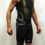 Black Adidas Techfit Powerweb sprintsuit - Right