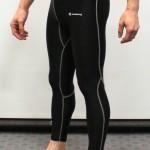 Black Primark baselayer tights - Left