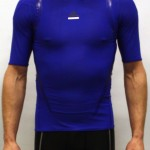 Blue Adidas Techfit T-shirt - Front