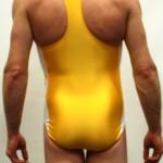 Yellow Adidas Leotard - Back