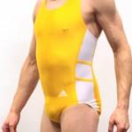 Yellow Adidas Leotard - Left