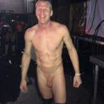Nude puppy backstage